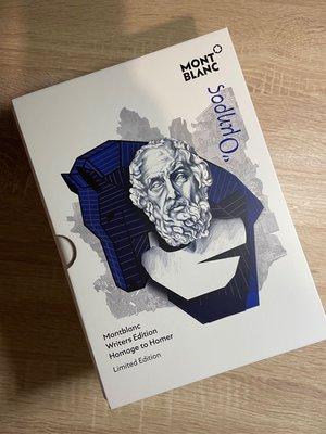 萬寶龍大文豪系列Homer 荷馬限量版套組鋼筆、原子筆、鉛筆(全新)