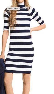 Michael Kors Striped Knit Mock Turtleneck Dress4/3止