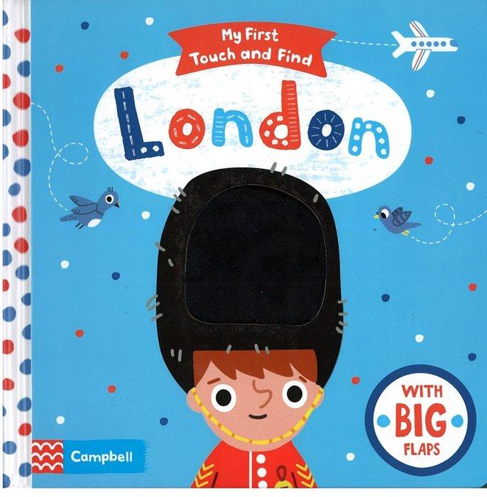 *小貝比的家*MY FIRST TOUCH AND FIND:LONDON/硬頁/3~6歲/觸摸翻翻書