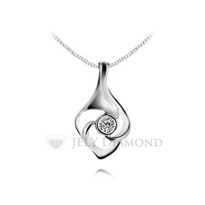 《JELY時尚館》【JELY Diamond】清新冰燦---3分天然真鑽石項鍊 §會員終生獨享交換維修優惠§