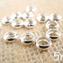☆ 惡魔小熊 手創 925銀飾批發 ☆ 990純銀 DIY材料 薄銀圈 5mm×1.6mm  配件 單顆