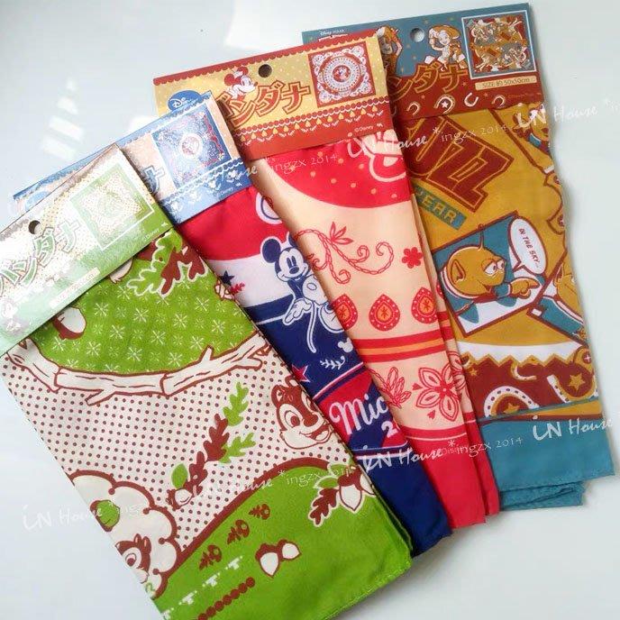 IN House*🇹🇼現貨scarf 日本卡通 圍脖 領巾 圍巾 方巾 披巾 多功能 綁包帶 髮帶 腰帶 手帕