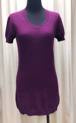 Matilde義大利浪漫紫羅蘭色長版毛衣