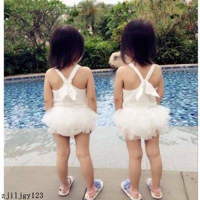 【grocery store】嬰幼童衣服夏季女寶寶連體吊帶天使翅膀網紗裙游泳衣0-3寶寶穿
