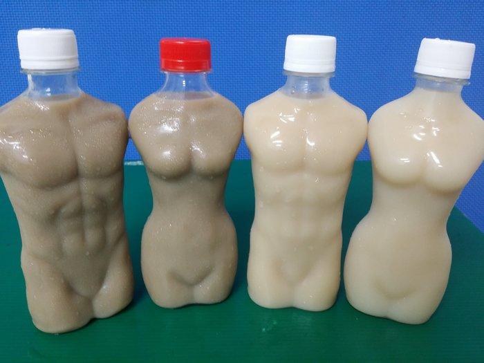 ☆活動園遊會代辦☆~園遊會熱銷小鮮肉奶茶瓶/小鮮女瓶/燈泡杯/圓柱瓶/飲料杯