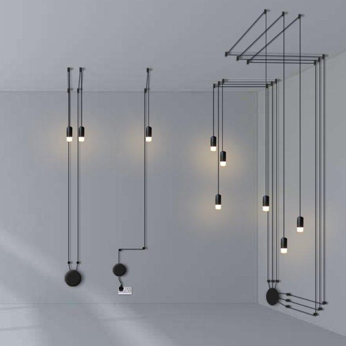 【58街】「幾何線條吊燈 」極致典雅品味/燈具/美術燈。複刻版。GH-560