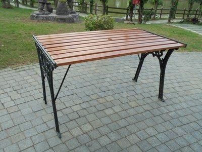 [兄弟牌戶外休閒傢俱]四尺鑄鐵公園桌~...