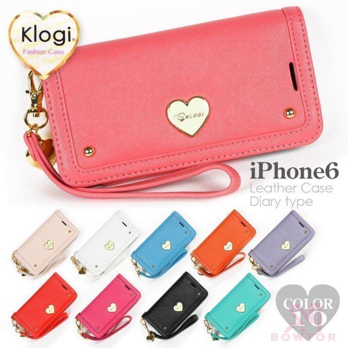光華商場。包你個頭【Klogi】卡洛奇iPhone6/6s 4.7吋Plus 5.5吋 愛心翻蓋式皮套 側背手提 插卡