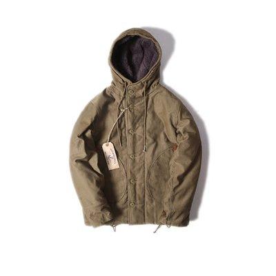 造夢師BOB DONG復刻OBSERVER  PARKA帶帽N-1羊毛里 重磅冬裝夾克男 咔嘰