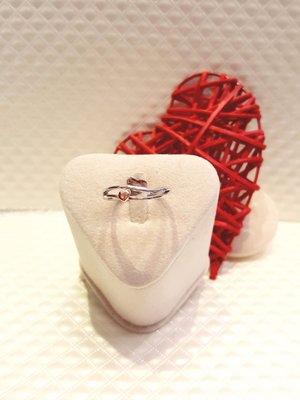 14K Au585 玫瑰K 白K金 心心相印戒指【三民區寶麗金珠寶金品】