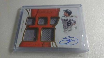 快腿外野手STEVEN DUGGAR限量39/99五球衣卡面簽名卡~250元起標