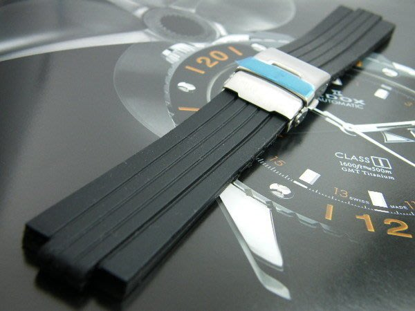 錶帶屋 Oris 豪利時 TT1機械錶完全代用F1胎紋頂級矽膠錶帶 現貨商品