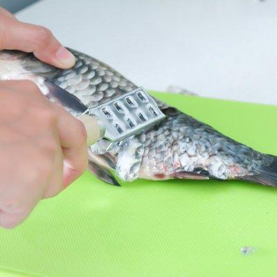日本進口魚鱗刨不銹鋼創意廚房刮魚鱗刷去魚鱗器拍打牛人豬排工具