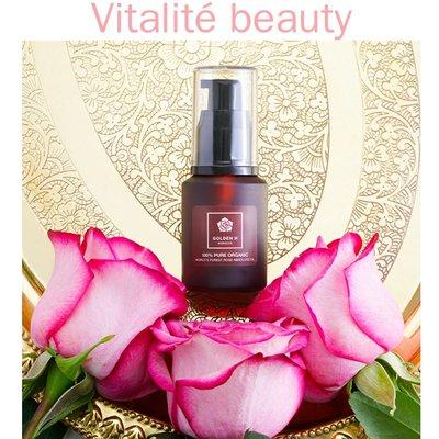Golden H 100% 有機純天然大馬士革玫瑰純油Pure Organic Rose Oil (美白 保濕 增強皮膚彈性 抗氧化 消除肌膚疲勞)Serum