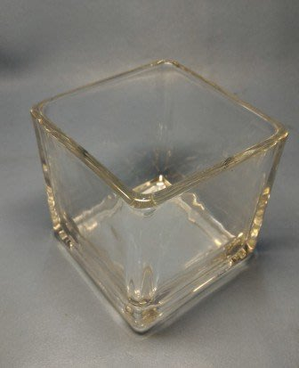蠟材館~蠟燭材料專賣:透明玻璃大方杯 四方型 方形玻璃杯