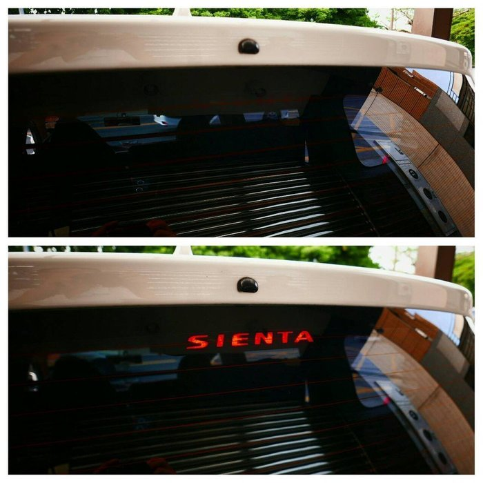TOYOTA豐田【SIENTA第三煞車燈貼膜】3M卡夢紋路貼 車頂燈 後檔煞車LED燈貼紙 停車燈貼片 SIENTA配件