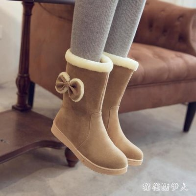 中大尺碼小女孩雪地靴兒童短靴加絨新款大童冬靴女童公主靴女學生棉靴 AW16310【秀秀生活】
