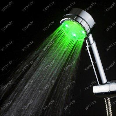 光療花灑 LED光療發光花灑燈淋浴噴頭七彩自動閃變創意衛浴產品