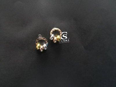 香港正生銀飾~ 歐美風~環環相扣耳環 貼耳耳釘