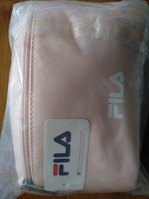 7-11 FILA 斜肩兩用包-粉