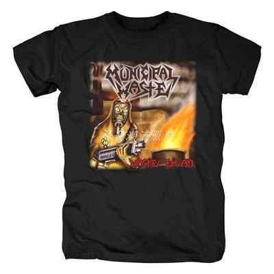 發發潮流服飾歐美Municipal Waste重金屬Heavy Metal硬搖滾死核鞭撻金屬t恤