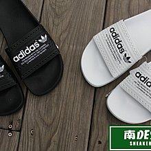 南◇現 ADIDAS 愛迪達 Adilette 義大利製 拖鞋 文字 黑S78689 白S7868 可碰水