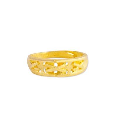 【JHT 金宏總珠寶/GIA鑽石】1.12錢 心心相繫黃金戒指 (請詳閱商品描述)
