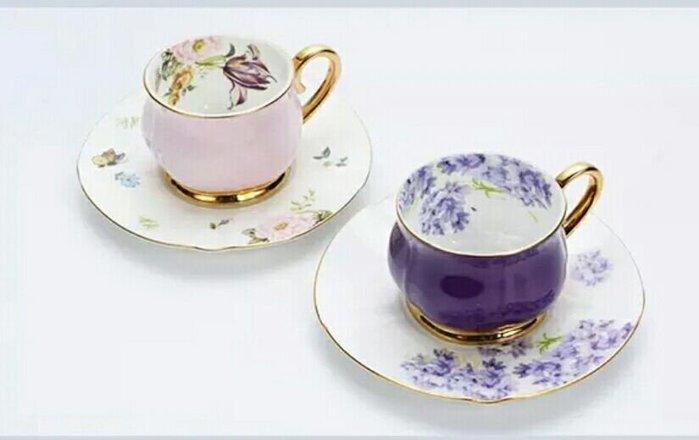 高檔骨瓷鬱金香義式杯濃縮杯禮盒組【 蘇菲亞精品傢飾】