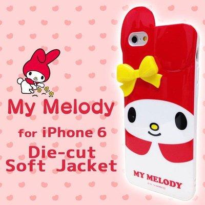 尼德斯Nydus~* 日本三麗鷗 My Melody 美樂蒂 手機殼 軟殼 經典款-紅色 iPhone6 4.7吋