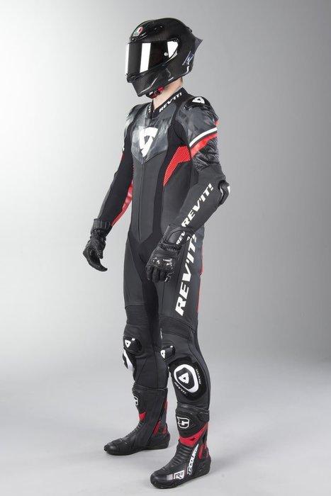 【柏霖動機 台中門市】荷蘭 REVIT  HYPER SPEED 連身皮衣 FOL033 皮衣  黑紅 送賽道體驗