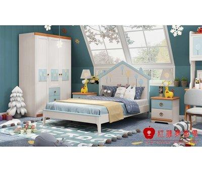 [紅蘋果傢俱]Gj-8805 單人床 雙人床 另售(床頭櫃 書桌椅 衣櫃  書櫃)實木床 兒童床 臥室組 北歐風 簡約風