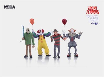 """ArtLife @ NECA Toony Terrors 6"""" Stylized 傑森 佛萊迪 潘尼懷斯 小丑 全4種"""