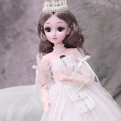 過家家玩具芭比娃娃60厘米會說話的乖乖芭比洋娃娃單個套裝女孩玩具大號公主新年禮物