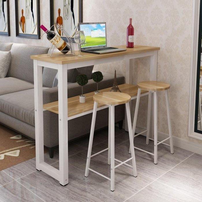 簡約靠墻吧台桌咖啡高腳桌定做家用客廳隔斷簡易吧台桌椅組合igo