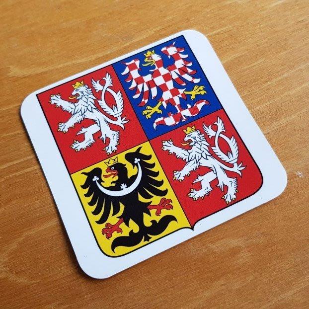 捷克國徽。防水貼紙。10X10公分。每張80元