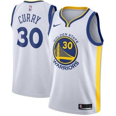 Stephen Curry Nike White Swingman Jersey