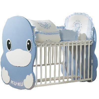 二手【台中可自取】送床單寢具組+嬰兒床蚊帳+嬰兒床音樂鈴+造型嬰兒床專用床墊~酷咕鴨造型嬰兒床/原木嬰兒床