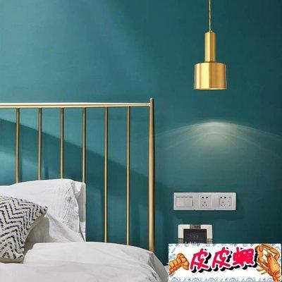 618大促北歐古銅色小吊燈簡約創意個性餐廳吧臺服裝店單頭過道玄關床頭燈【皮皮蝦】