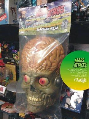 ArtLife @ 美國經典 電影老玩物 Mars Attacks 星戰毀滅者 MASK 1:1 夜光面具