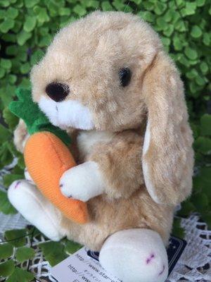 ☆薇菈日本精品☆日本製STAR CHILD 駝色 垂耳兔 兔子拿紅蘿蔔 娃娃 絨毛 玩偶13cm