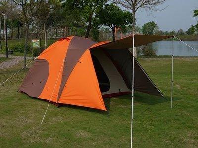 【SAMCAMP 噴火龍】超優品質㊣豪華6~8人雙門銀膠蒙古包帳篷(300型+外帳前庭設計)-外型類似LOGOS 300