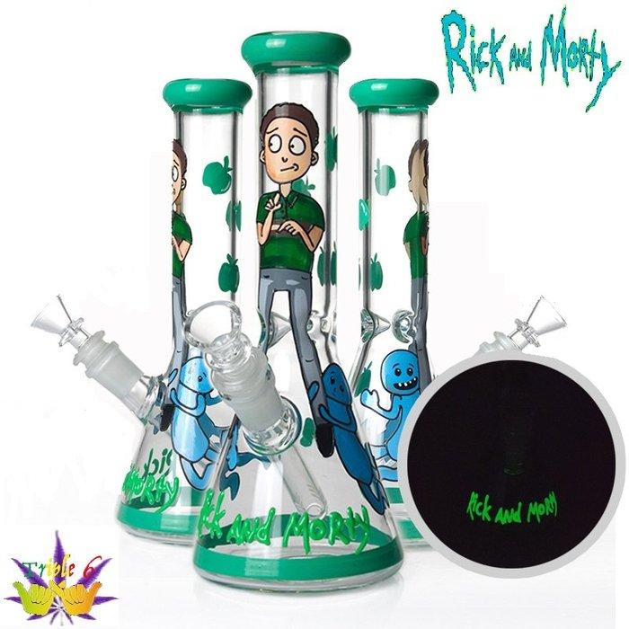 【Triple6】🚚免運 Rick And Morty 260MM 燒杯 厚玻璃 有冰槽 夜光版