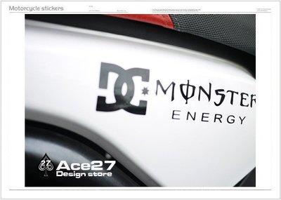 ACE27 艾斯   機車貼紙 機車彩貼 DC MONSTER 爪子 2011 2012 bwx bws 電腦割字