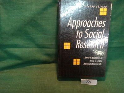 【愛悅二手書坊 05-24】Approaches to Social Research