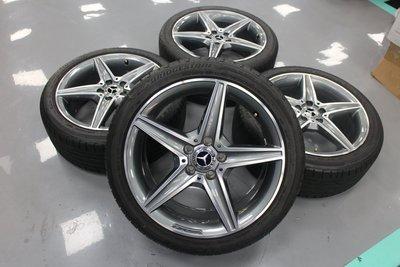 蓋世輪 BENZ W205原廠AMG 18吋鋁圈輪胎(二手)售38000