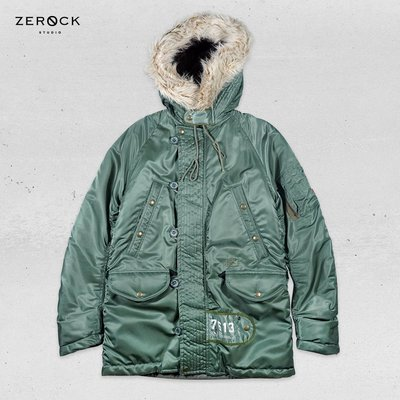 《ZEROCK》WTAPS DAZED AND CONFUSED N-3B 長版軍外套 鋪棉 口袋 雙頭鷹 M號