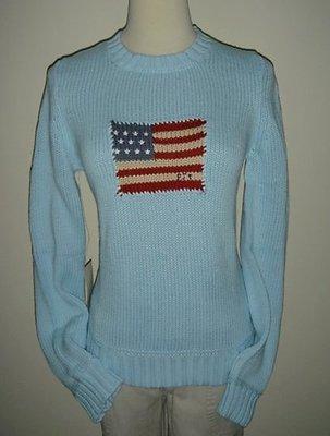 全新過季零碼POLO JEANS (桃紅)(白)(灰S)(藍)(粉L)(黑)國旗logo保暖針織衫~出清特價990元