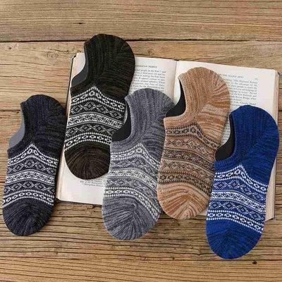襪子 短襪 長襪 船襪男潮夏天薄款針織棉線襪子男低幫短襪淺口透氣吸汗低腰半隱形