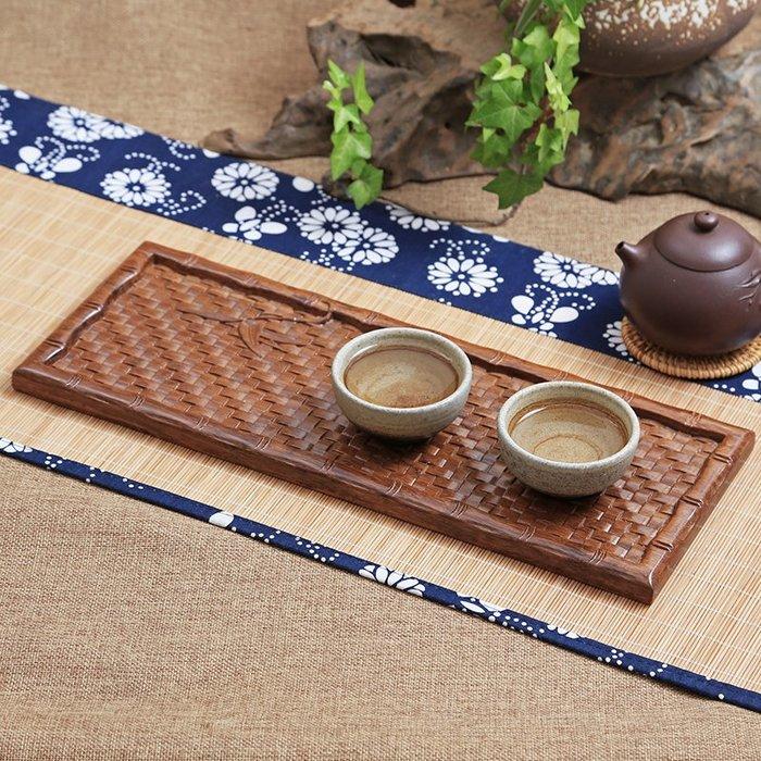 重竹浮雕托盤 平板茶盤長方形茶托 竹茶具家用功夫茶簡約干泡茶臺