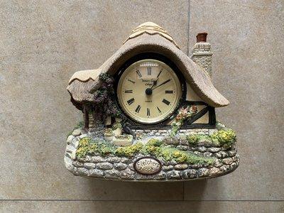 英國進口Made in England 早期手作 房屋造型 限量大鏡面座鐘/擺飾 Fletchers Nook